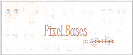 [Pixel Icon Bases for Sale! Full Set, 100 Points ] by ATEL1ER