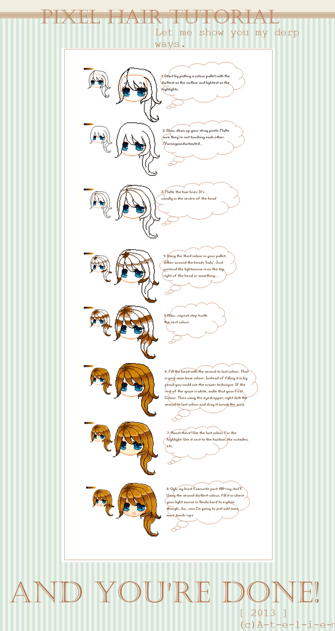 [ The Derp Pixel Hair Tutorial ] by ATEL1ER