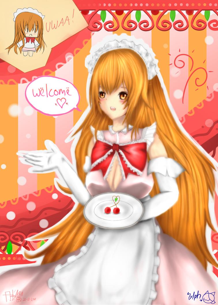 Leuraciel .Waitress Costume. by sylphan on DeviantArt