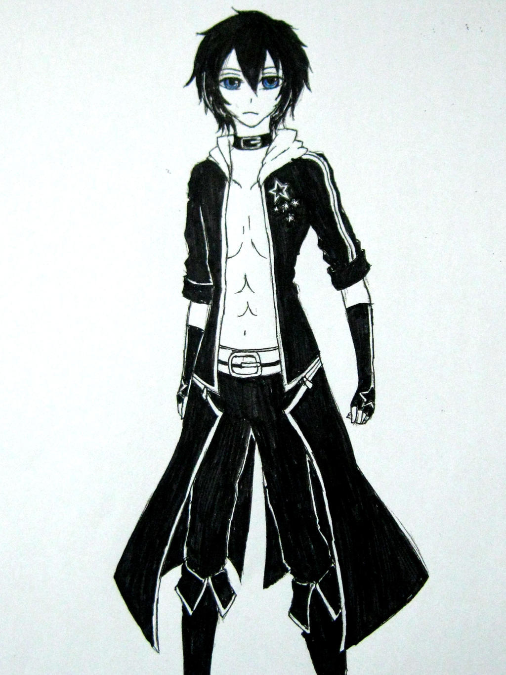 Black Rock Shooter male version.. by AikaKurookami on DeviantArt