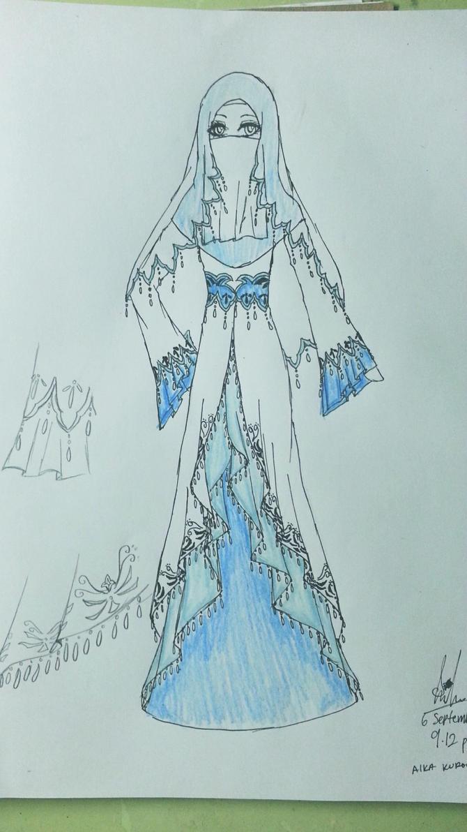 Muslimah Wedding Dress by AikaKurookami on DeviantArt