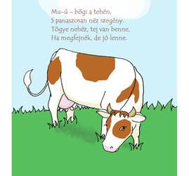 Cow - Children's Book by DezWagner