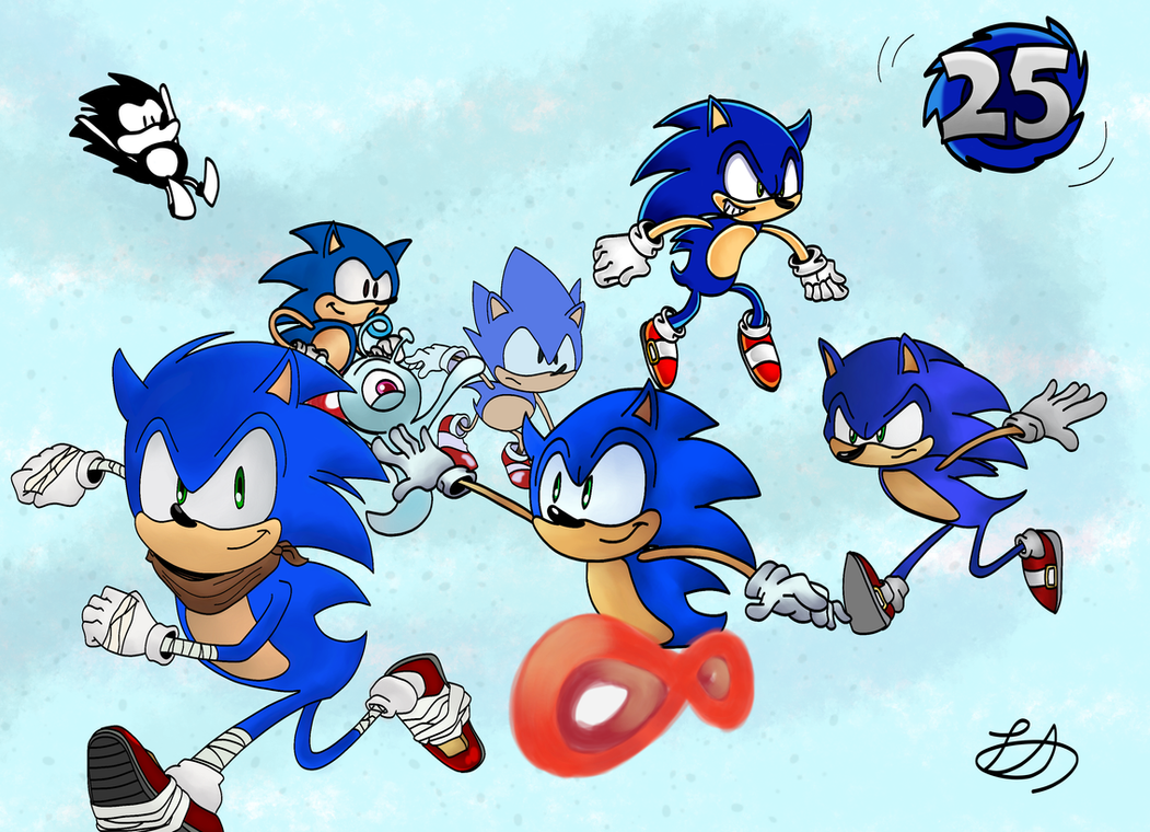 Sonic the Hedgehog Through the Years (Updated) by TwintailedAngel
