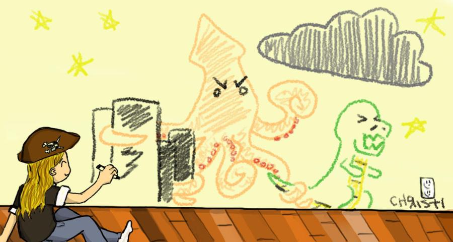 Calamari Revenge aka PN chibi by the-PirateNinja