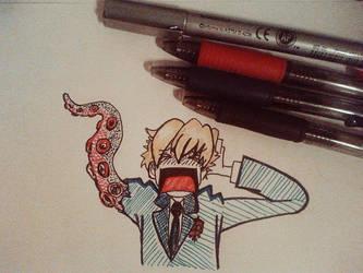 Tamaki Senpai your arm!! @_@ [Inktober #2] by the-PirateNinja