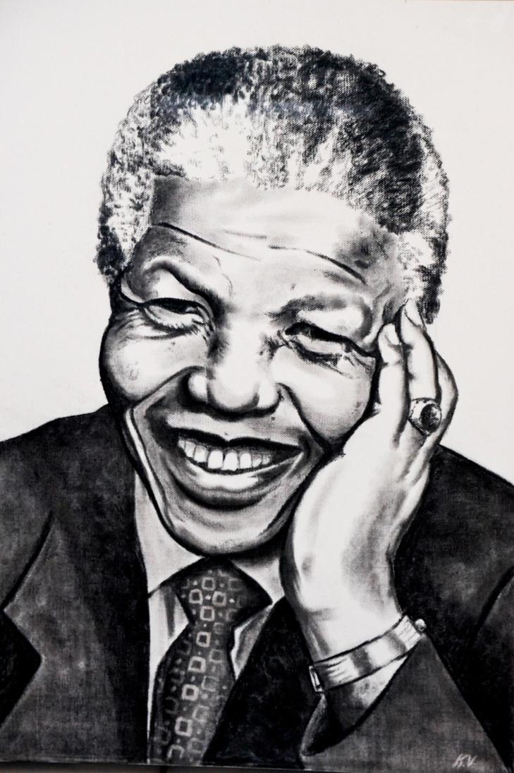 Nelson Mandela by Kailerine