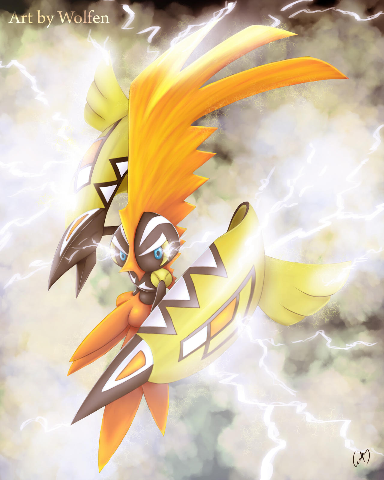 Tapu Koko pokemon by Wolfen-C