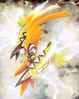 Tapu Koko pokemon by Maucen