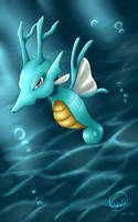 Kingdra Pokemon by Maucen