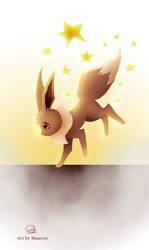 Eevee pokemon by Maucen