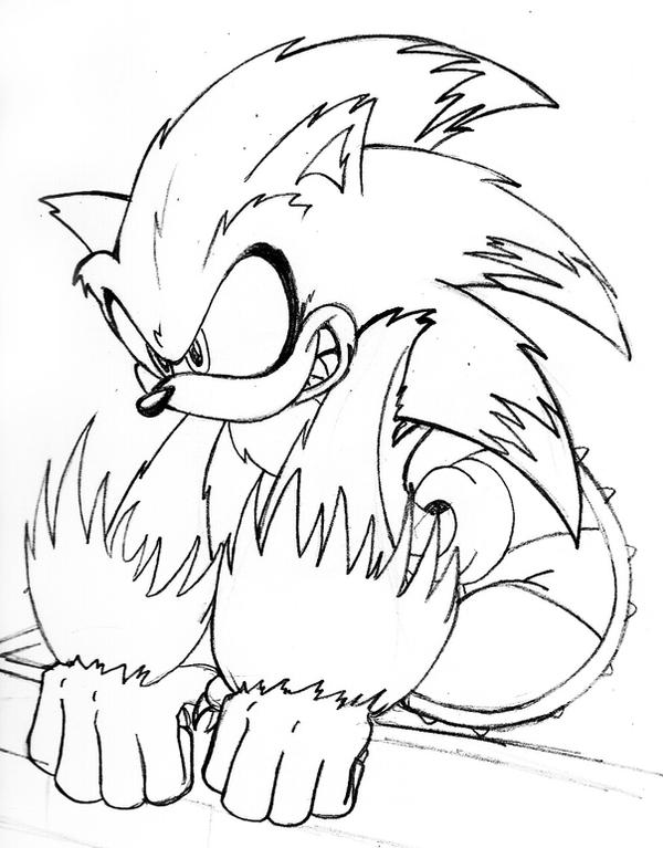 Sonic The Werehog S Free Colouring Pages Sonic The Werehog Coloring Pages