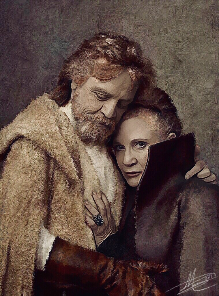 Luke and Leia by paulnery