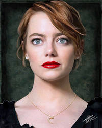 Emma Stone by paulnery