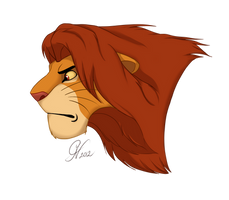 Simba: young Adult by CarteNoire