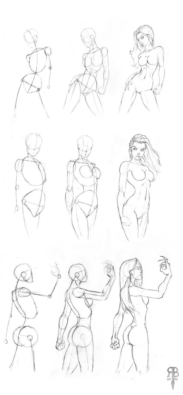 Line Drawing Female Body : Female body shapes part by rofelrolf on deviantart