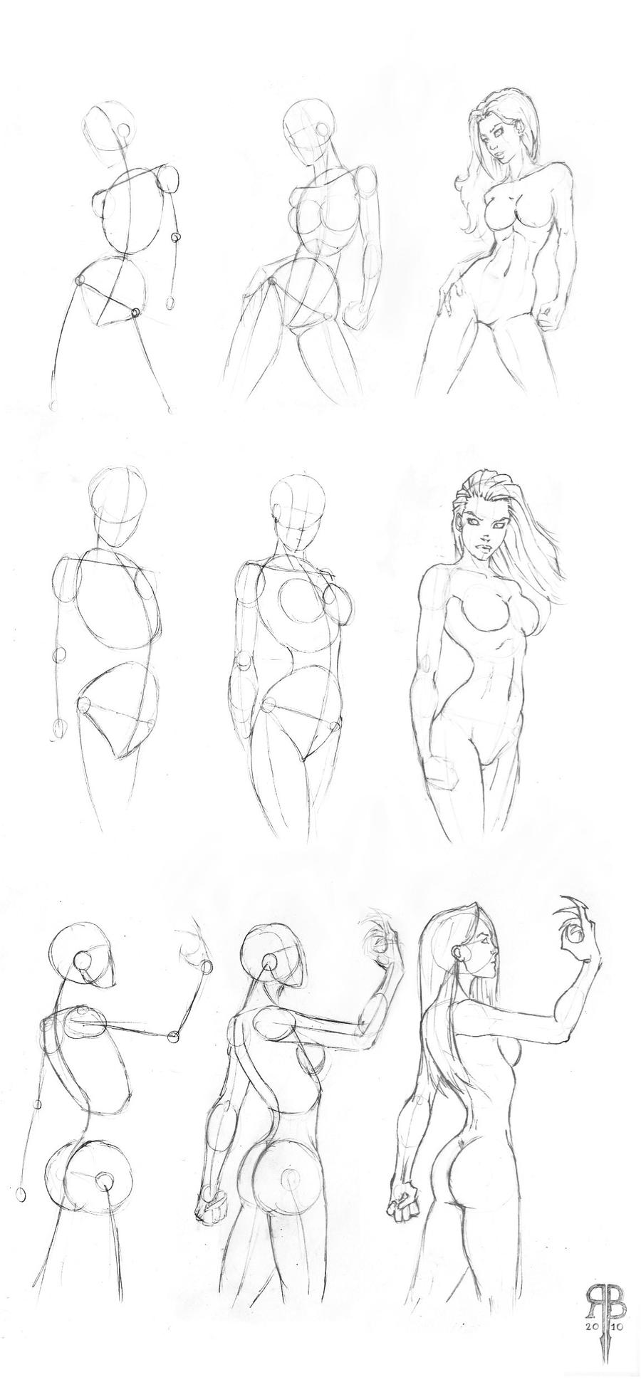 It is a picture of Exhilarating Female Body Poses Drawing Reference