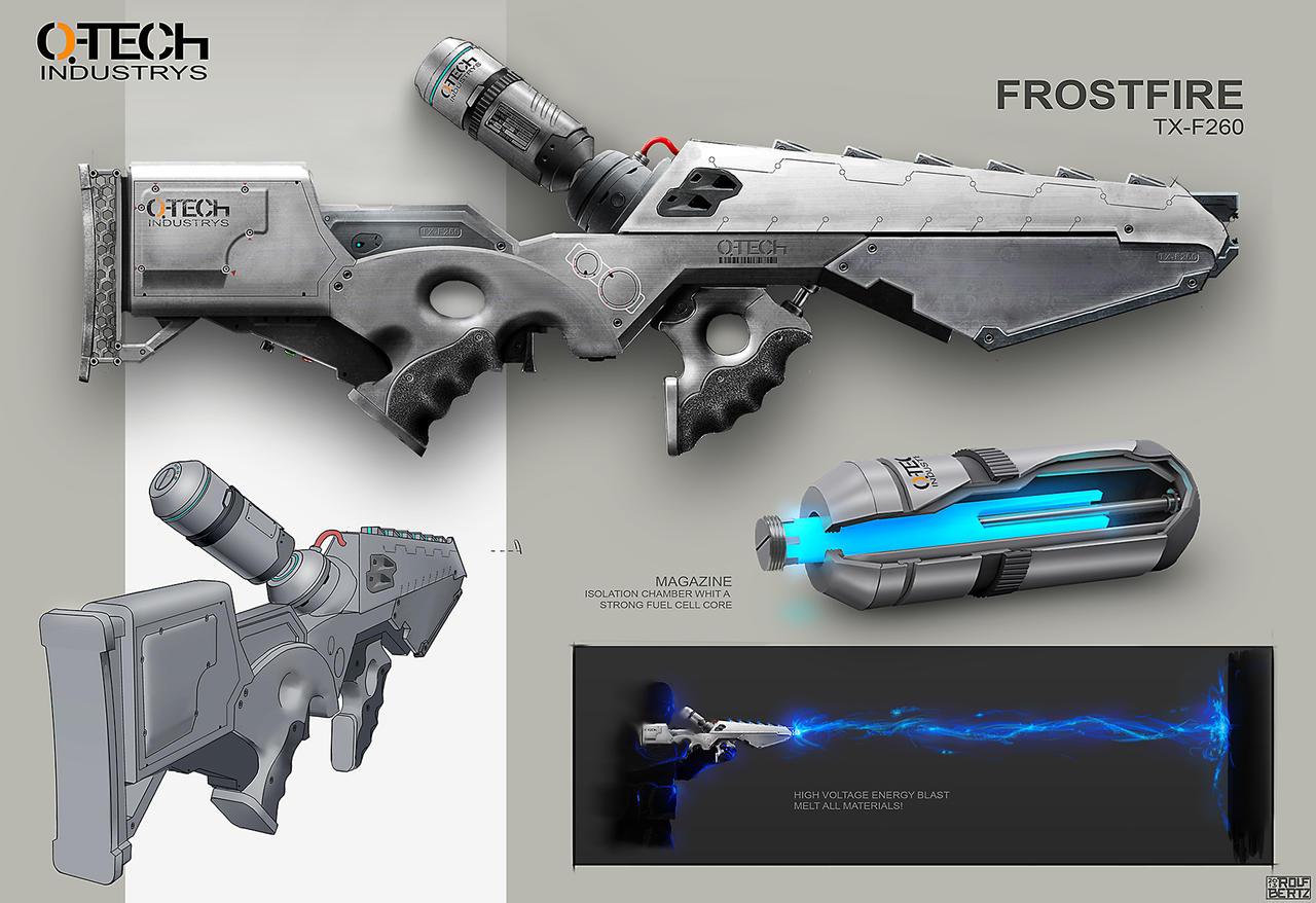 Frostfire Weapon Concept Rolf Bertz by Rofelrolf