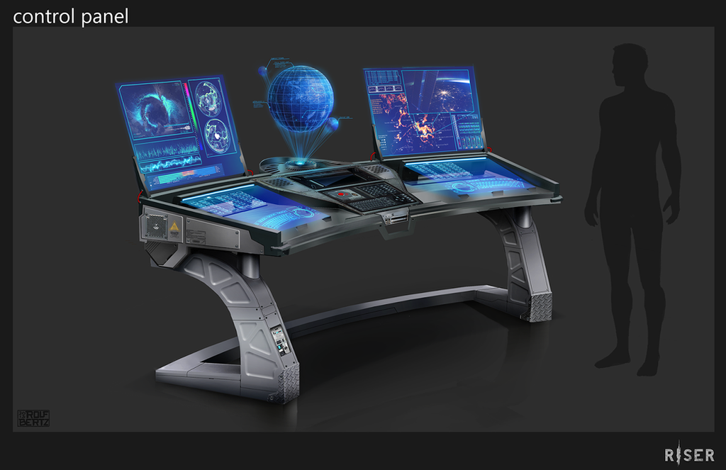 Sci Fi Control Panel : Control panel concept by rofelrolf on deviantart