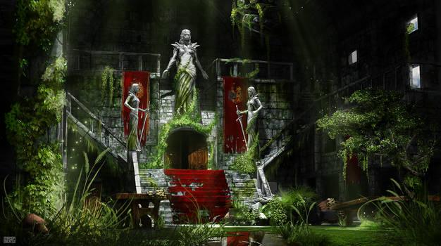 abandoned castle Concept