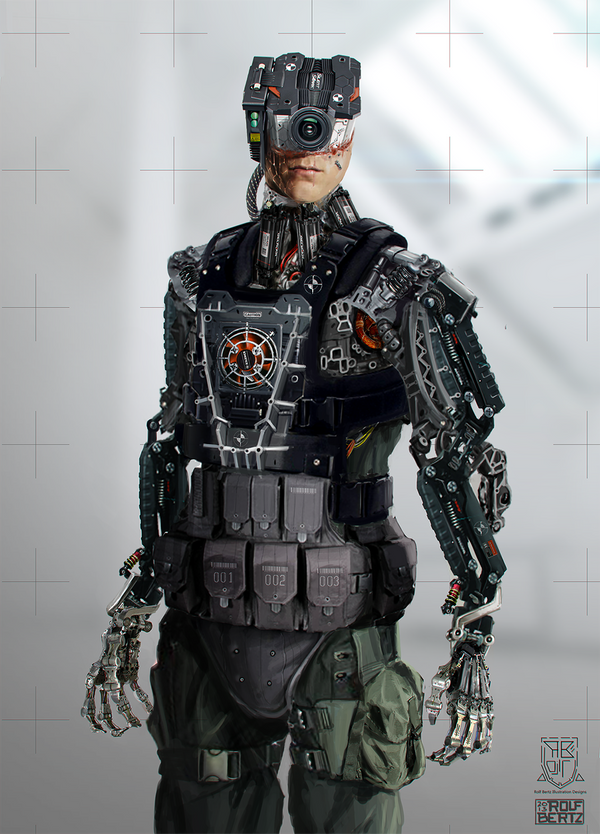Cybernetic guy by Rofelrolf