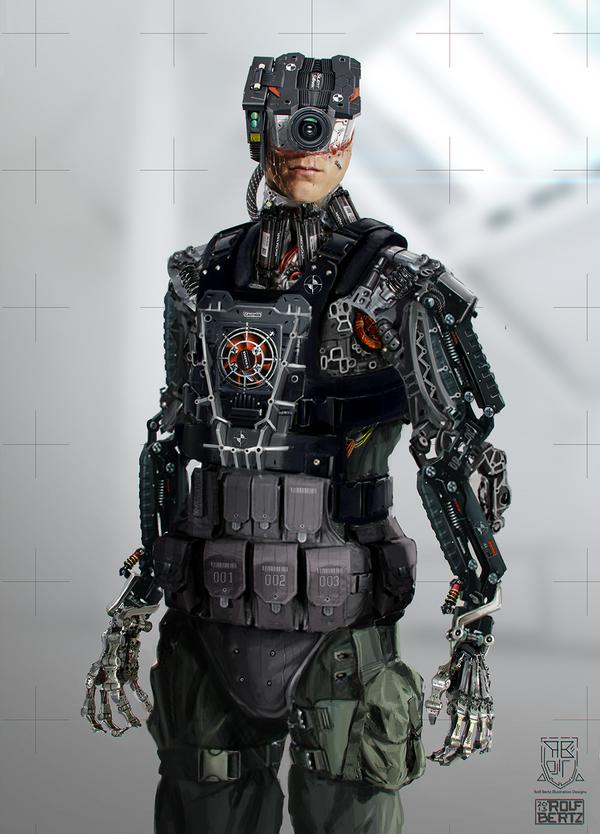 Cybernetic guy by Rofelrolf