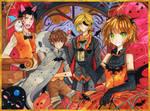 +Sakura in the Halloween Town+ by larienne