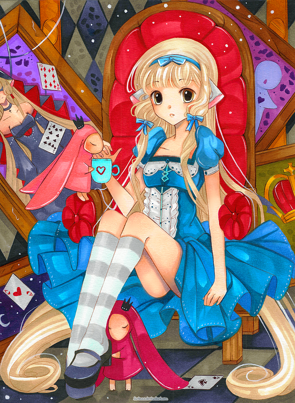 +Chii in Wonderland+ by larienne
