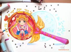 +Sailor Moon - Cutie Moon Rod+ by larienne