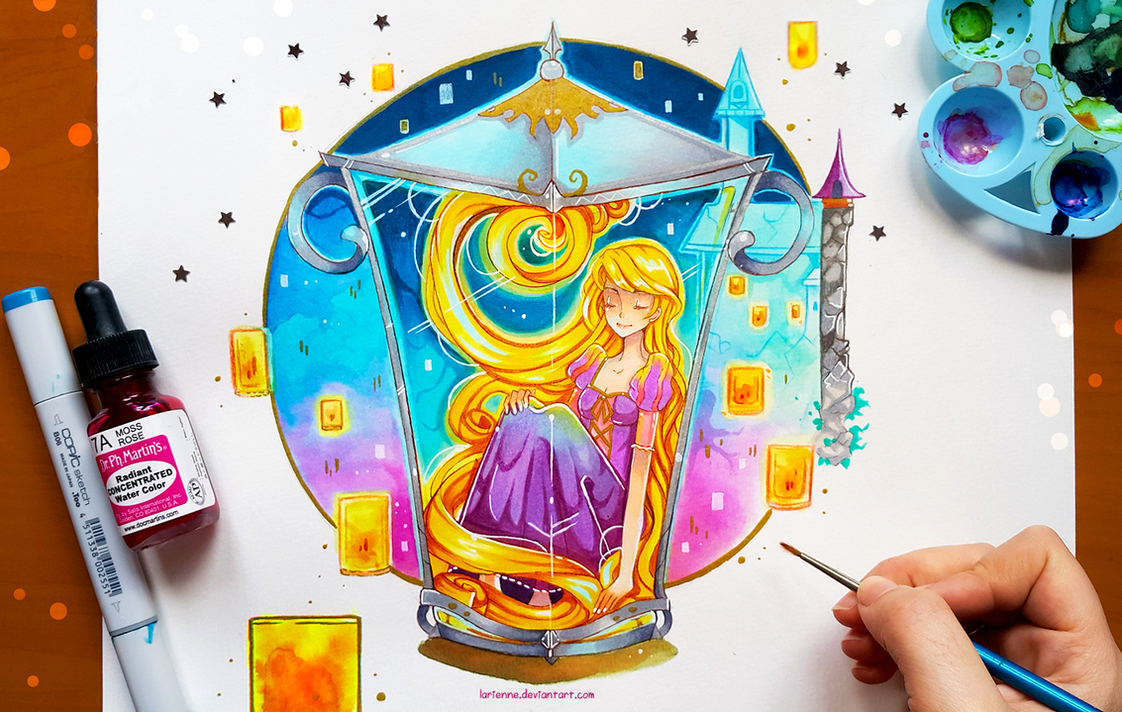 +Rapunzel - I see the Lights+ by larienne