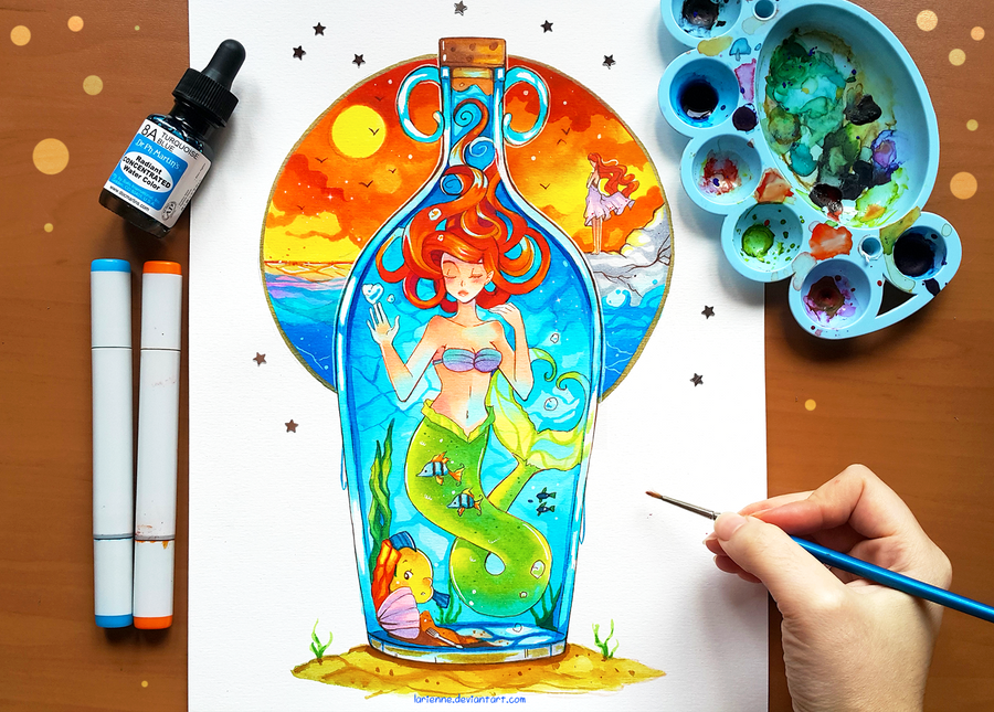+Ariel - Trapped Under the Sea+ by larienne