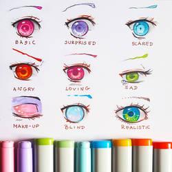 +Manga Eye Expressions+ by larienne