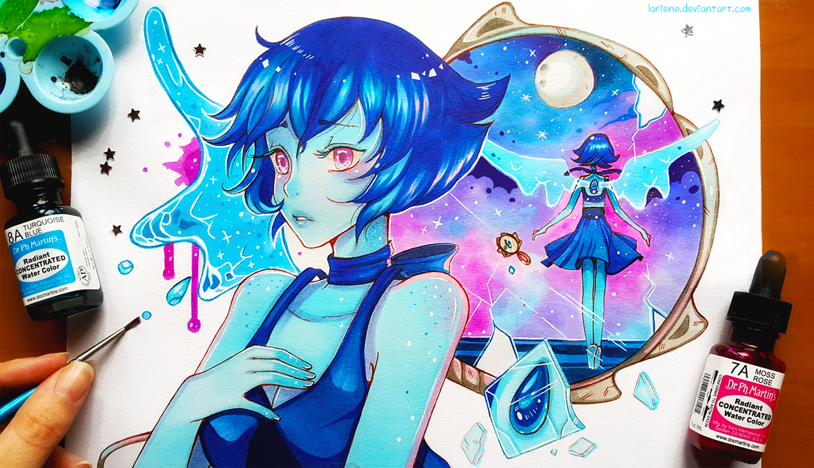 "Today we will travel to the world of ""Steven Universe"" : D I've wanted to paint Lapis for a while now, I love her design and colors : D I hope you will enjoy it and thanks for support ; A ; --- I d..."