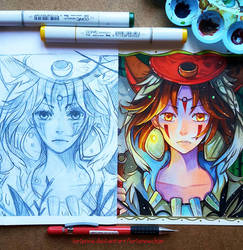 +Mononoke - Before and After+