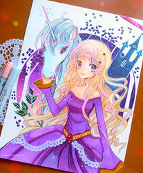 +Last Unicorn - Into the Lilac Forest+ by larienne