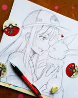 +Best Friend's Noserub - Pokemon Go+ by larienne