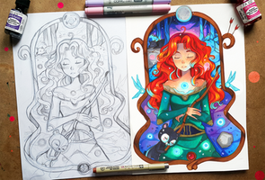 +Merida - Concept and Finished Art+