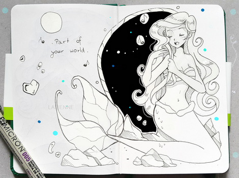 Inktober Sing Along + Part of Your World