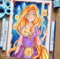 Commission - Rapunzel by larienne