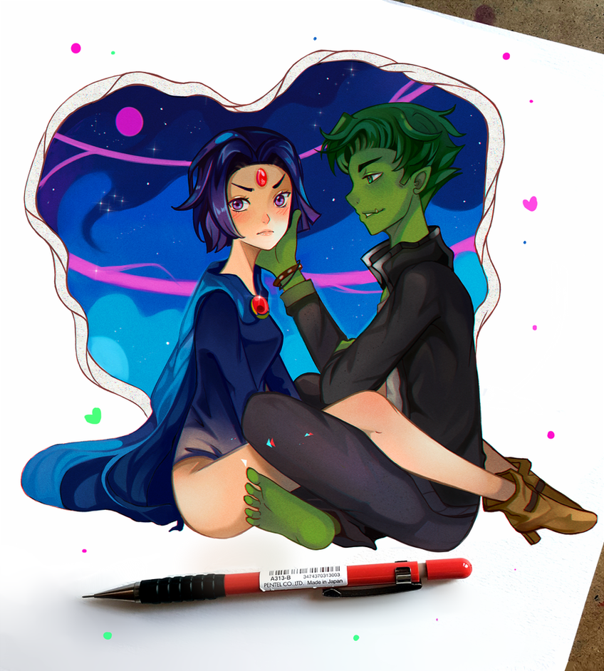 +Teen Titans - How about a Kiss+ by larienne
