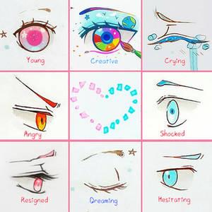 +Eye Expressions Sheet 5 +