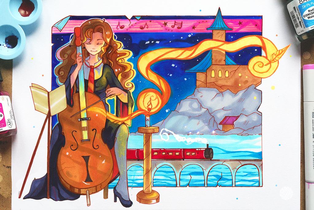 +Humalong - Harry Potter theme+ by larienne
