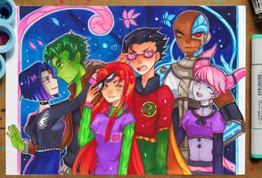 +Teen Titans - Autumn Walk+ by larienne