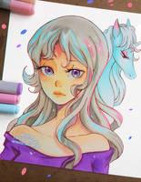 +Last Unicorn - Amalthea+ by larienne