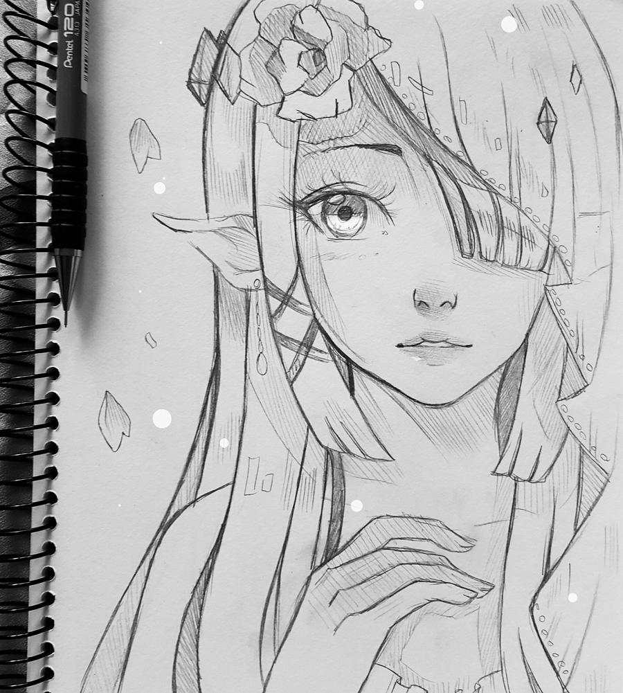 Princess Zelda Face Drawing