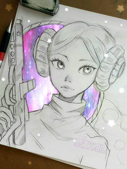 Leia , the Galactic Spirit - Sketch