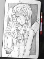 Yuri - DDLC by larienne