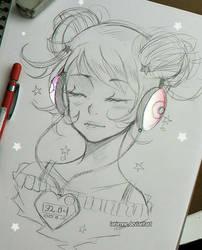 +Heartbeat+ by larienne