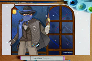 Overwatch Anniversairy - Mystery Man McCree by larienne