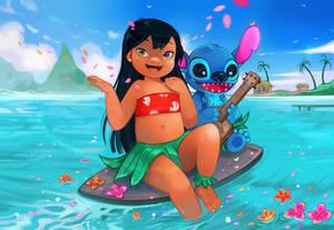 Lilo and Stitch by larienne