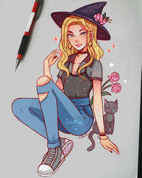 Sabrina the teenage witch by larienne